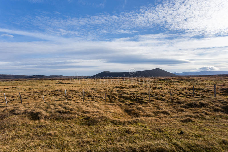 Cratère volcanique Hverfjall, Myvatn photographie stock libre de droits