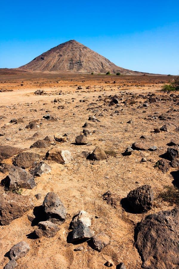 Cratère volcanique sur l'île de sel images stock