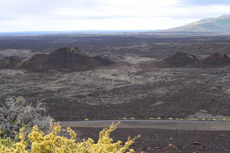 Cratères du monument national de lune et de la conserve, Arco, Idaho images stock