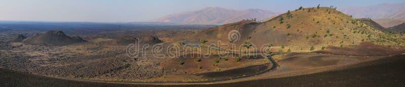 Cratères du monument national de lune, Idaho, Etats-Unis images libres de droits
