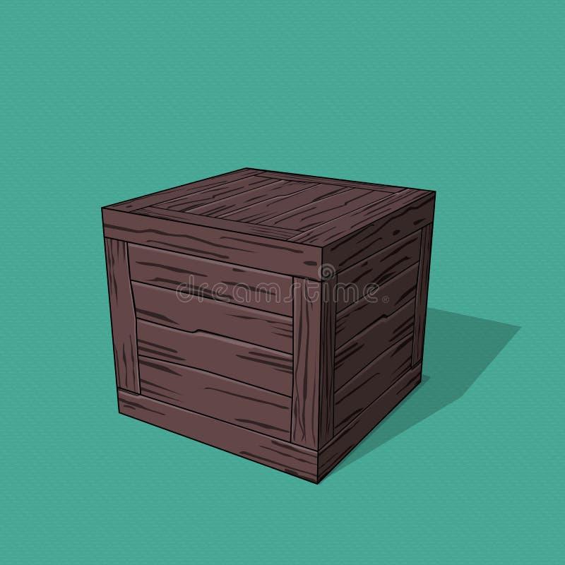 crate ilustração stock