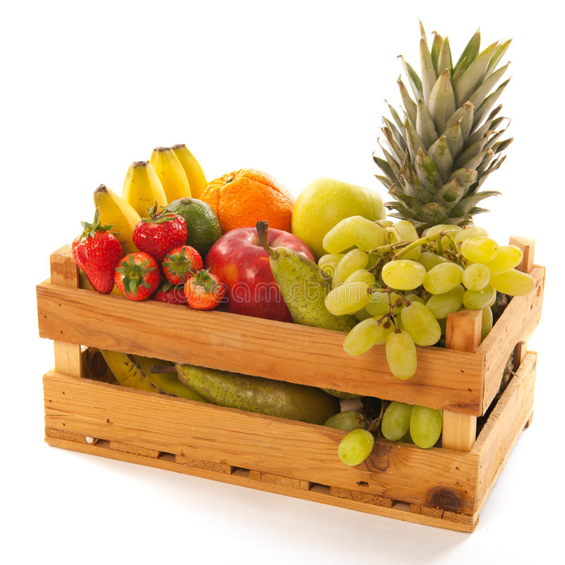 Crate Fresh Fruit Royalty Free Stock Image