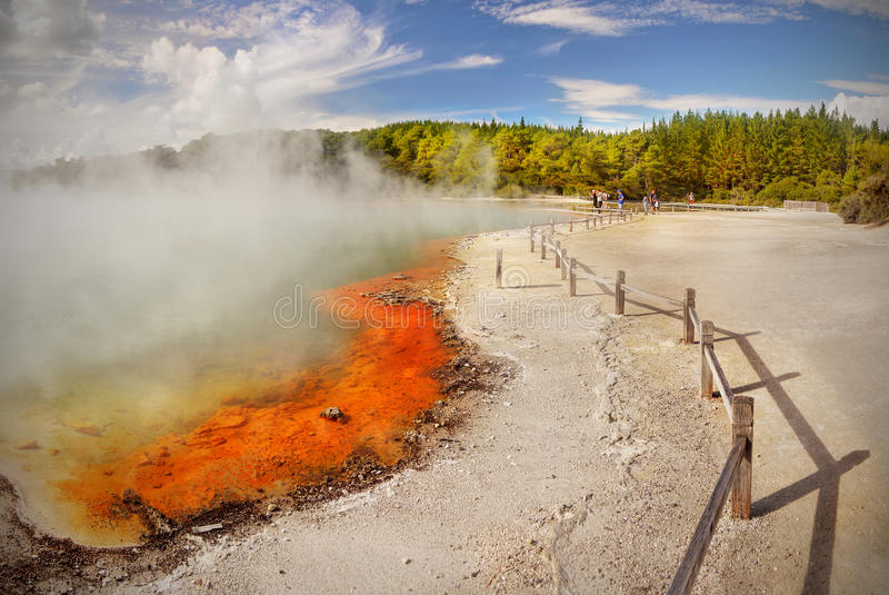 Crater湖,火山的风景 图库摄影