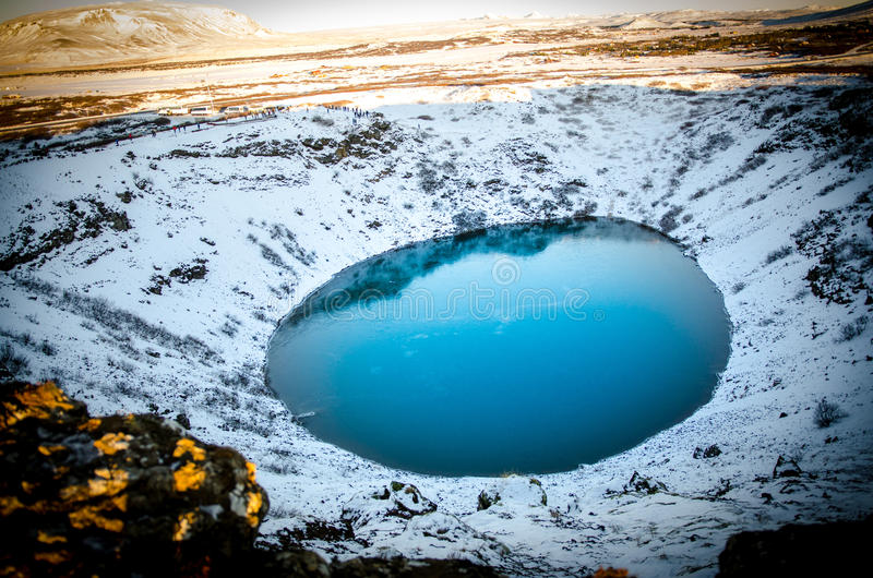 Crater at Iceland stock photography