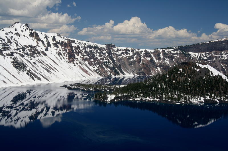 Crater Lake. View over Crater Lake national park (southern Oregon, USA stock images