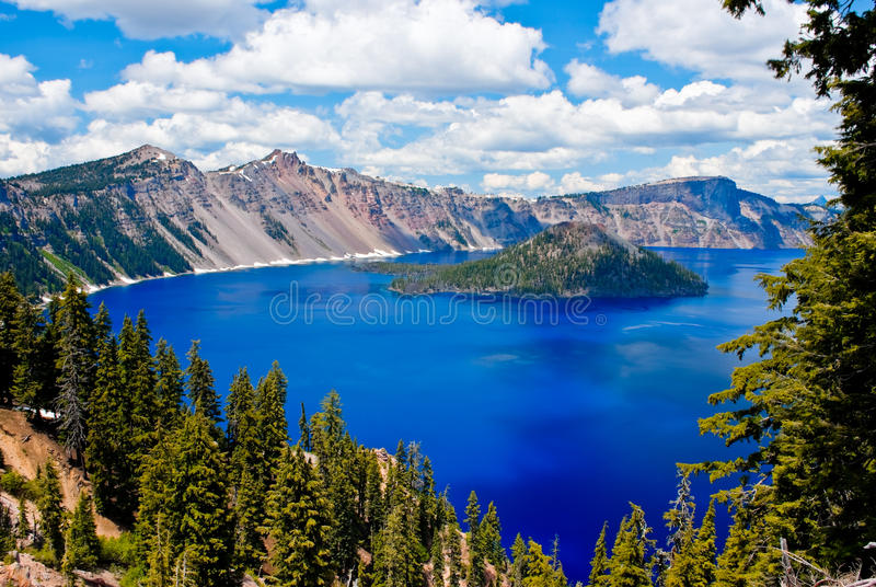 Crater Lake. Gorgeous Crater lake on a summer day royalty free stock image