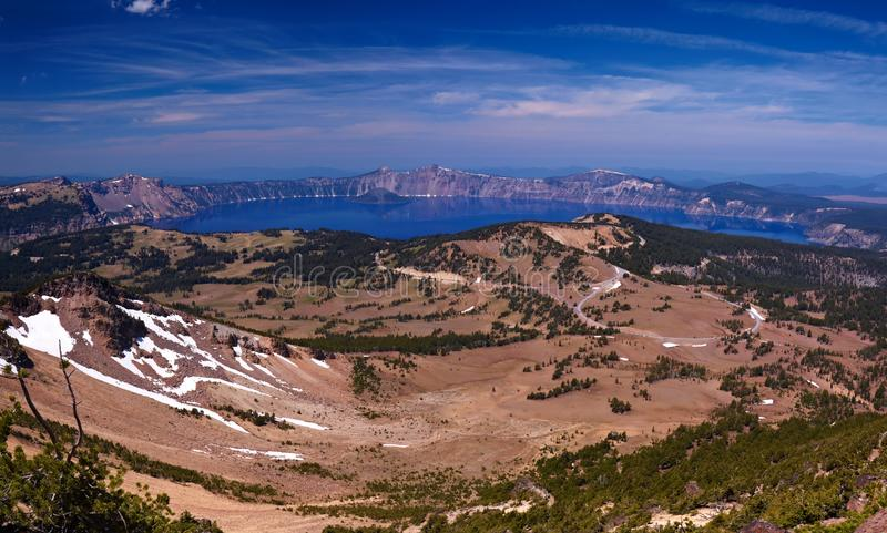 Download Crater Lake stock photo. Image of ecological, trees, mountains - 14862020