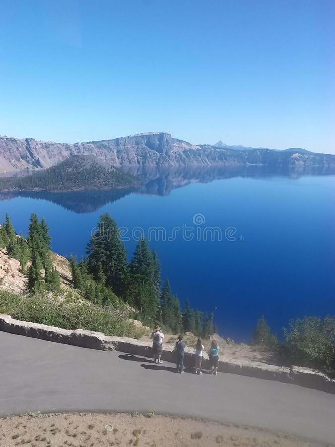 Crater lake blue water beautiful lake nature stock image