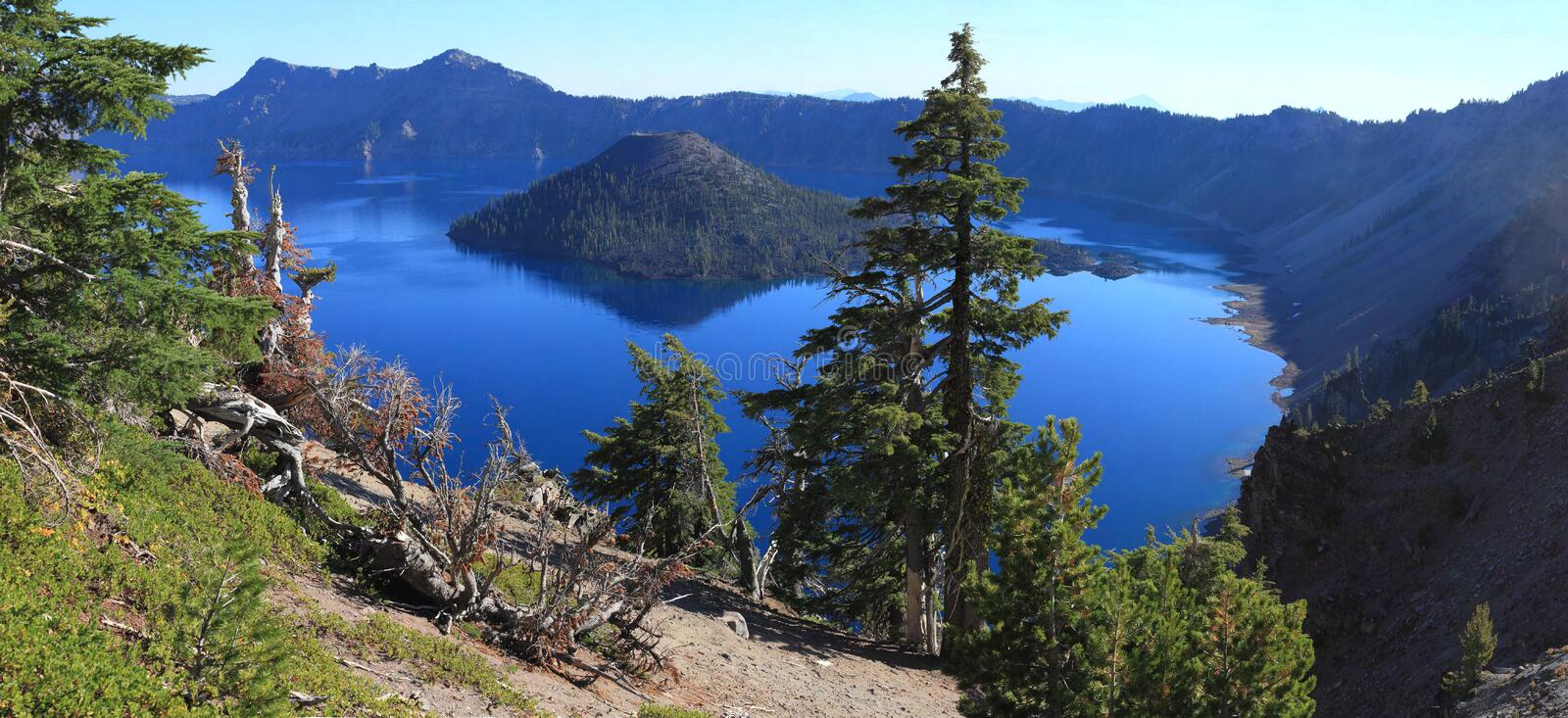 Crater Lake. Is a caldera lake in the western United States, located in south-central Oregon royalty free stock photography