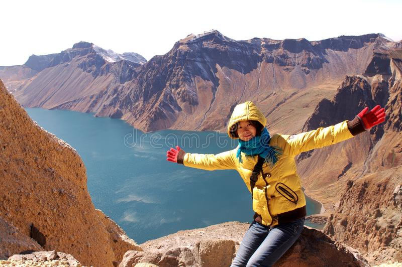 Crater Lake Of Changbai Mountain Stock Image