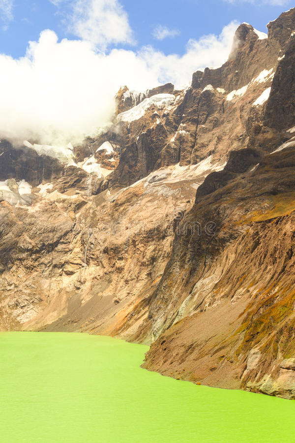 Crater Lake El Altar Volcano royalty free stock photography