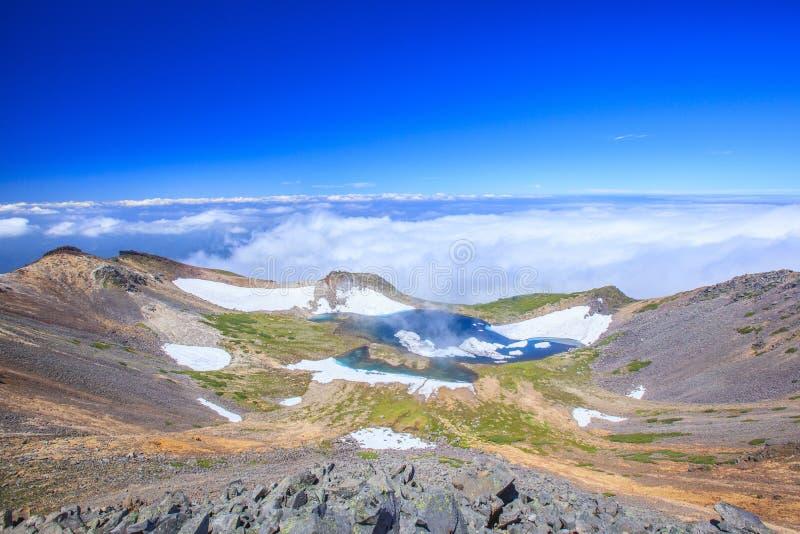 Crater lake. Of Mt. Norikura, Gifu, Japan stock photo