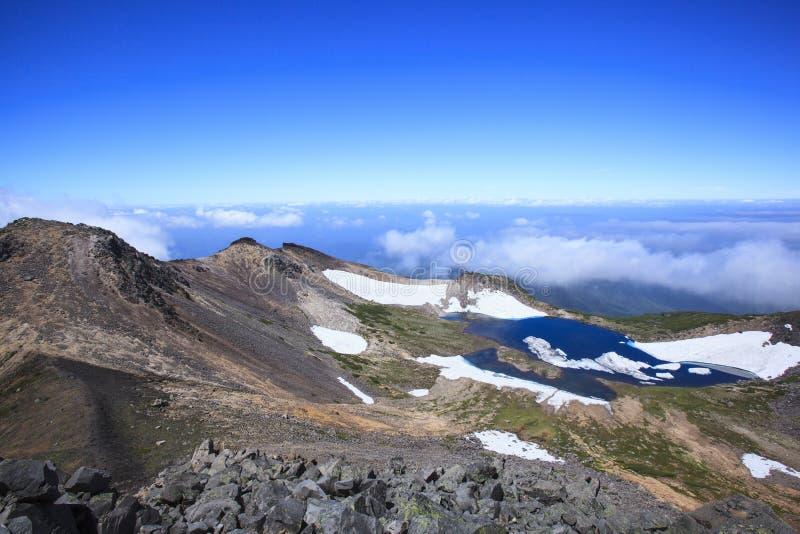 Crater lake. Of Mt. Norikura, Gifu, Japan royalty free stock photos
