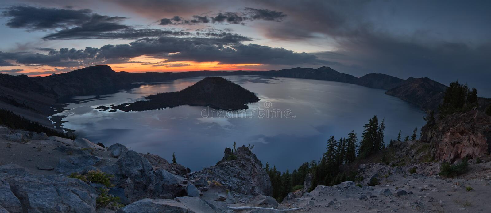 Crater Lake. National park oregon royalty free stock images