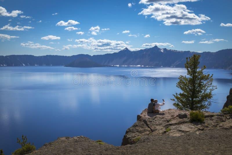 Crater Lake National Park Oregon summer road trip stock photos