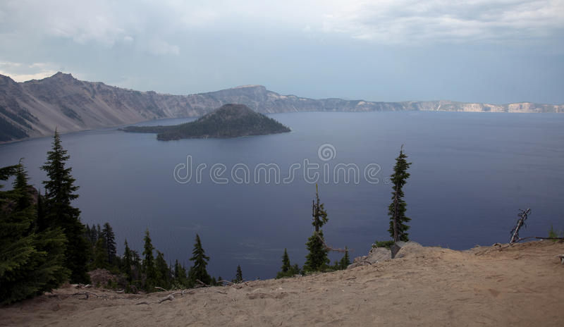 Crater Lake National Park, Oregon. Crater Lake is what remains of Mount Mazama, the massive volcano that exploded 10,000 years ago and drastically altered the royalty free stock photography