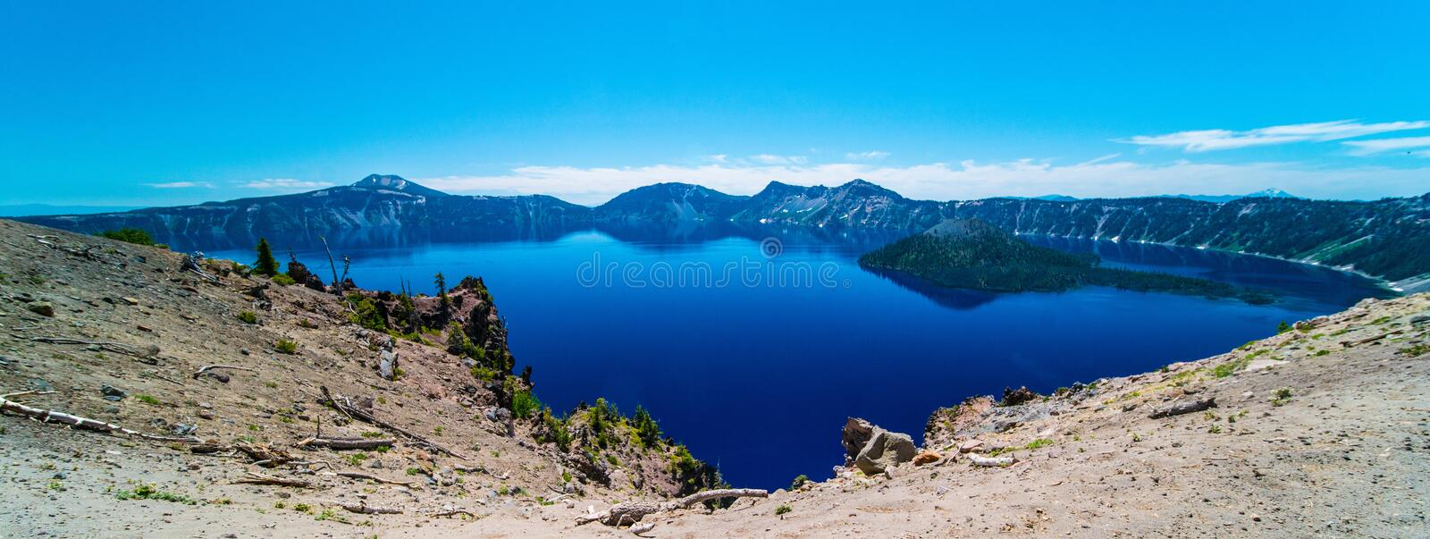 Crater Lake in Oregon royalty free stock photo