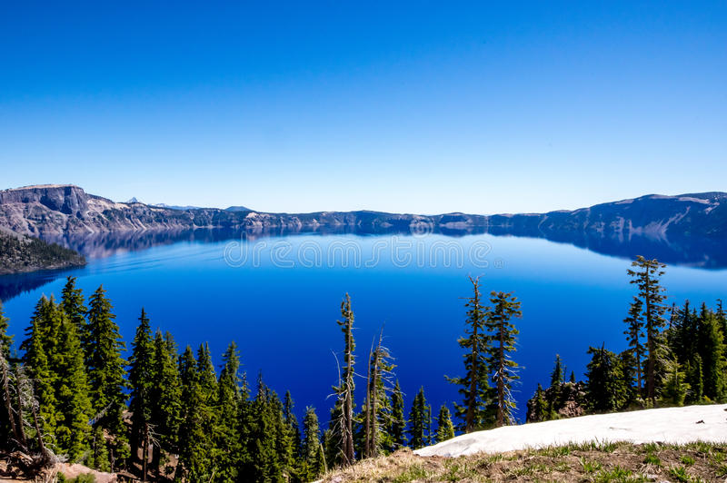 Crater Lake Oregon. View of Crater Lake Oregon stock images
