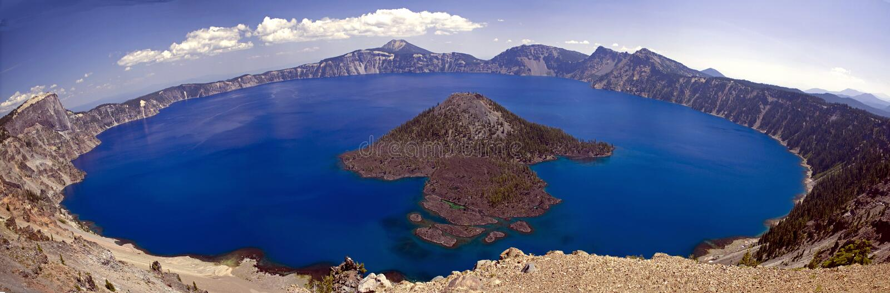 Crater Lake, panorama royalty free stock photography