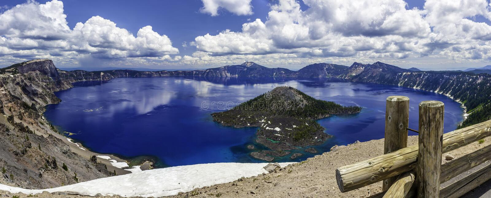Crater Lake. And Wizard Island royalty free stock images