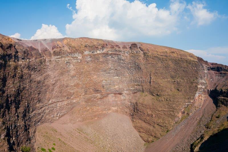 Mount Vesuvius, Italy. The crater of Mount Vesuvius. Naples, Italy stock image