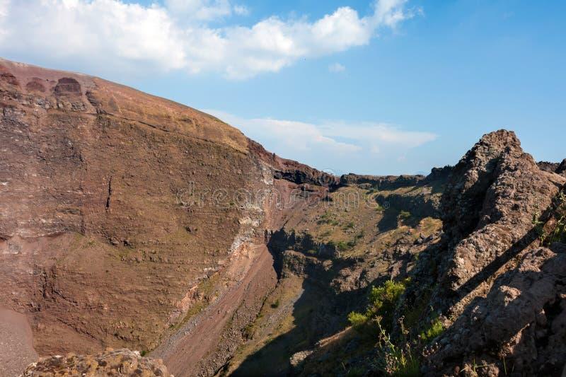 Mount Vesuvius, Italy. The crater of Mount Vesuvius. Naples, Italy stock images