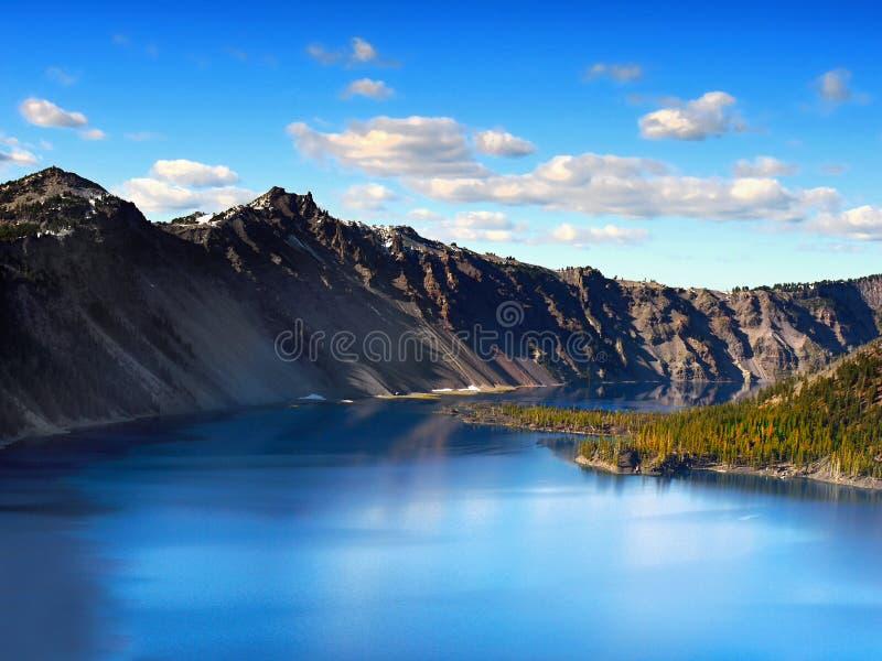 Crater See-Nationalpark, Oregon Vereinigte Staaten stockfotografie