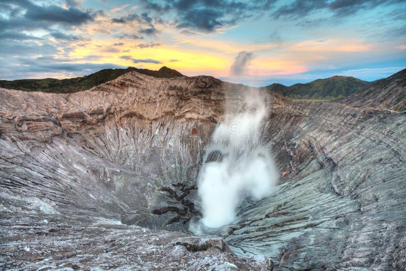 Cratera de Bromo imagens de stock