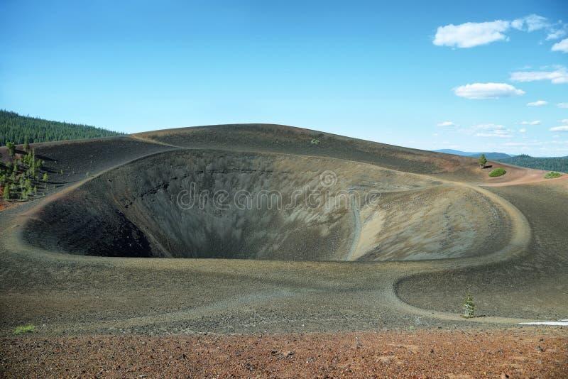 Cratera de Cinder Cone, parque nacional vulcânico de Lassen imagens de stock