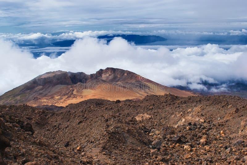 Cratera de Volcano Pico Viejo, Ilhas Canárias de Tenerife, Espanha foto de stock royalty free