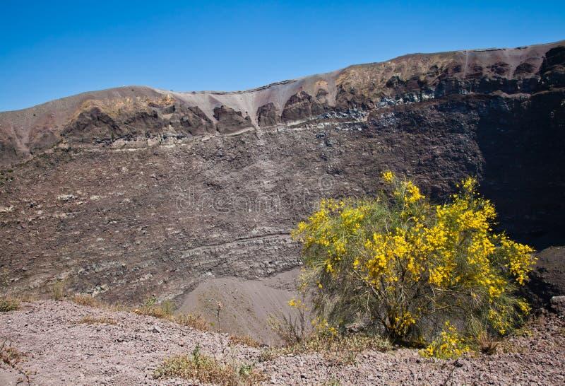 Cratera do Vesúvio foto de stock