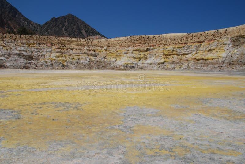 Cratera do vulcão, console de Nisyros fotos de stock