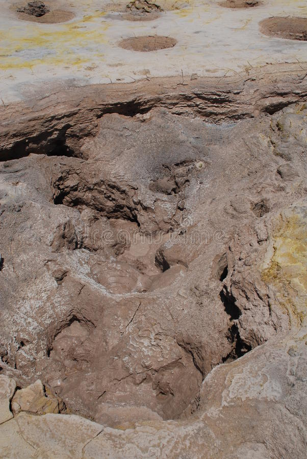 Cratera do vulcão, console de Nisyros imagens de stock royalty free