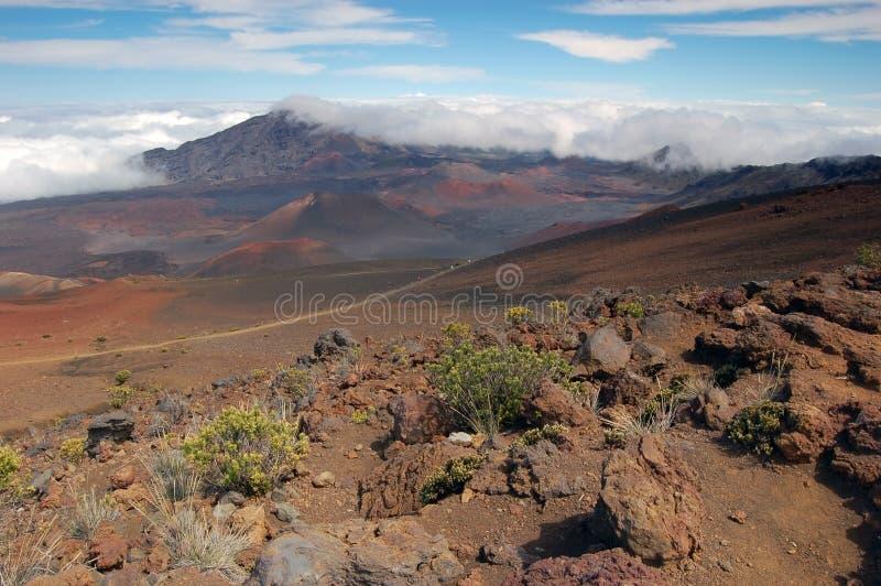 Cratera do vulcão de Haleakala imagem de stock royalty free