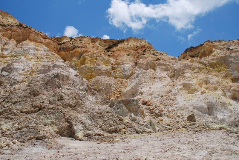 Cratera do vulcão de Stefanos, Nisyros imagem de stock