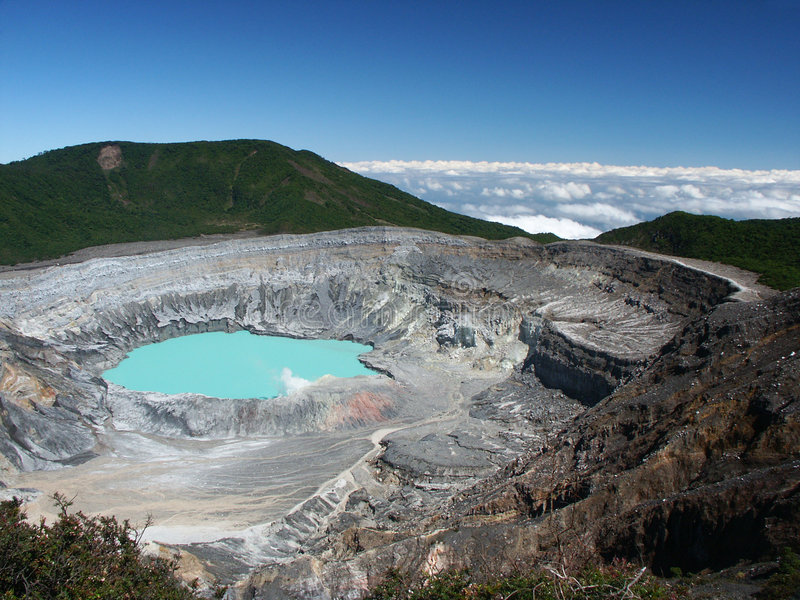Cratera do vulcão Poas imagens de stock royalty free