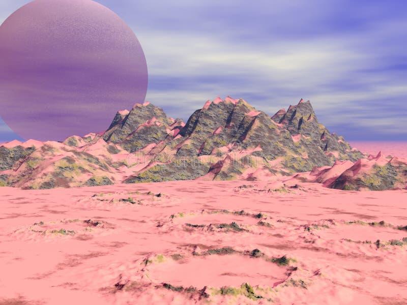Crateras ilustração do vetor
