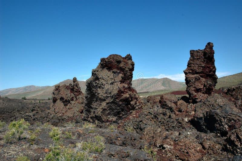 Crateras da lua, Idaho, EUA imagem de stock royalty free