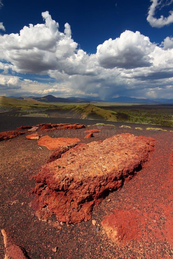 Crateras da paisagem da lua imagens de stock royalty free