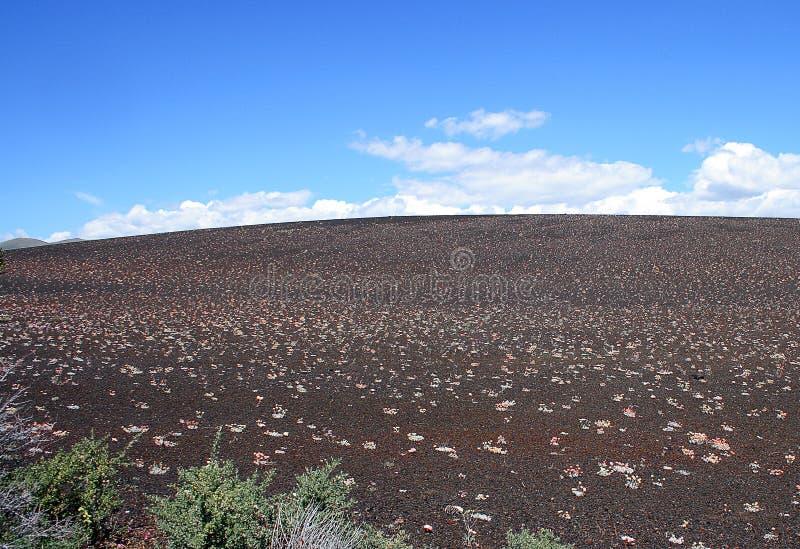 Crateras do monumento nacional da lua em Idaho fotos de stock