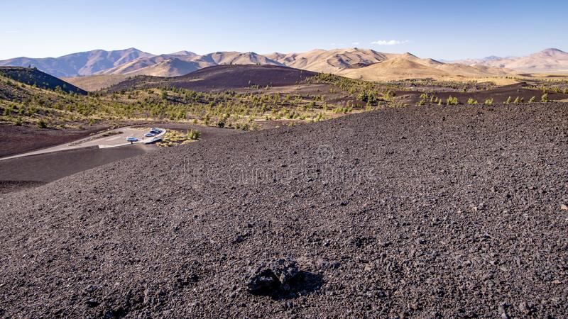 Crateras do monumento nacional da lua, Idaho foto de stock