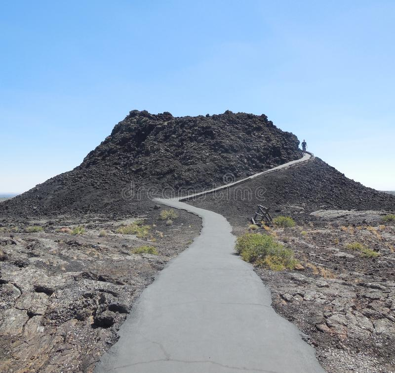 Crateras do parque nacional da lua foto de stock