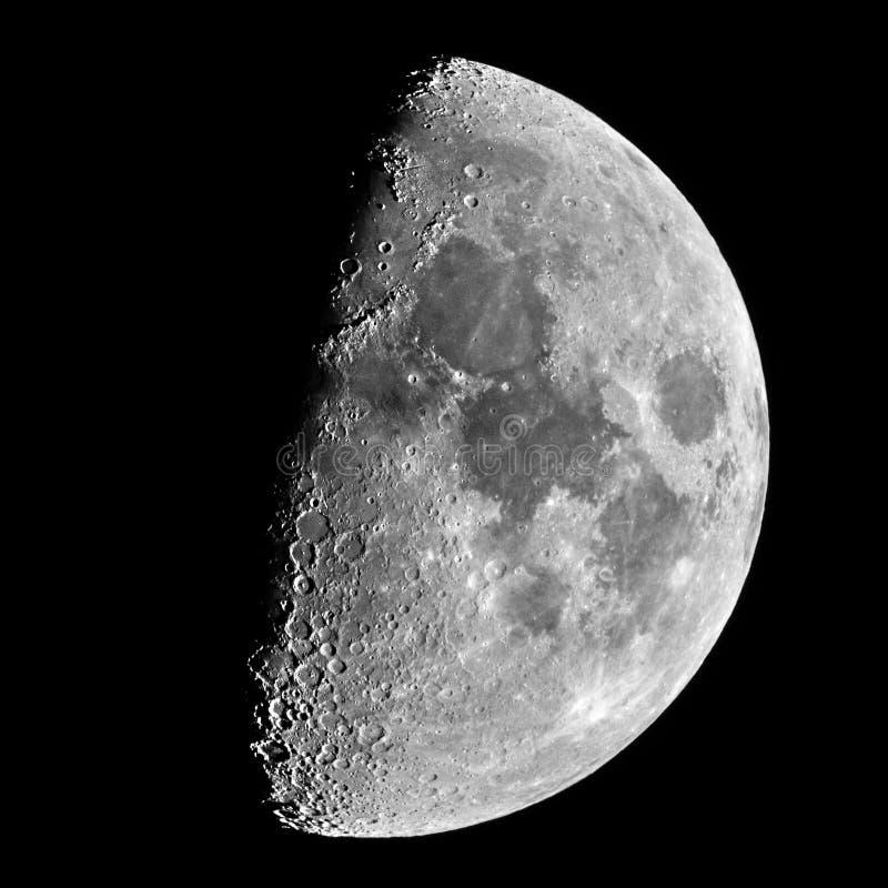 Crateras e detalhes de meia lua fotografia de stock
