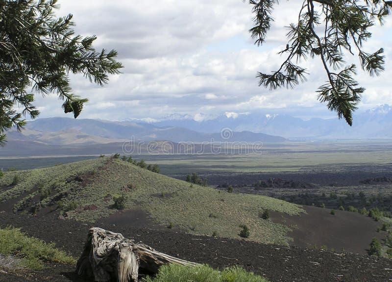 Crateras - fluxos de lava imagem de stock