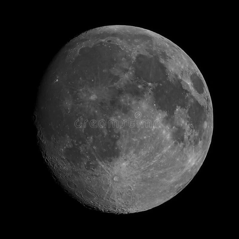Crateras na lua imagens de stock