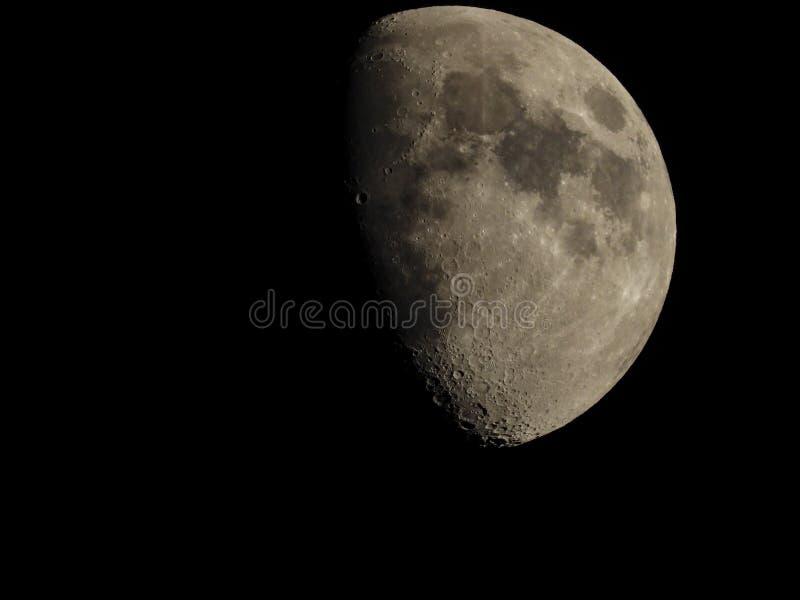 Crateras na lua fotografia de stock