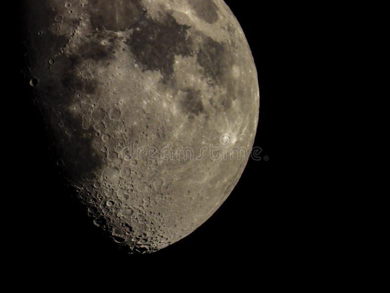 Crateras na lua fotos de stock royalty free