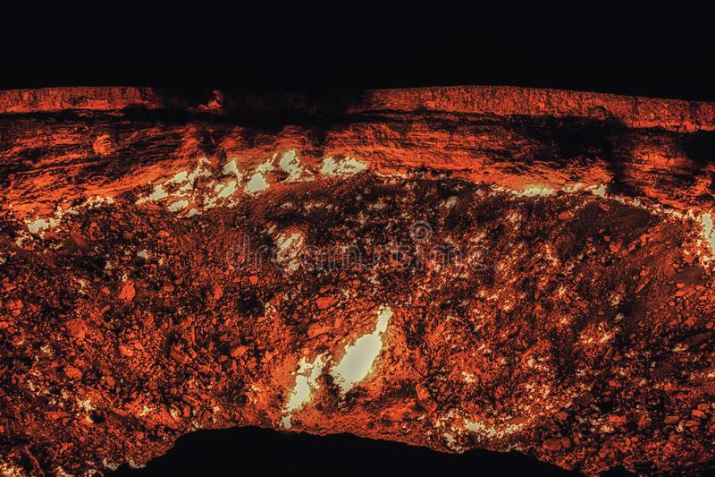 Cratere del gas di Darvaza, il Turkmenistan, Asia centrale, Asia immagine stock libera da diritti