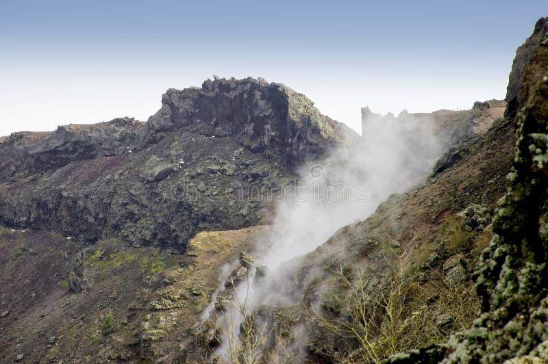 Cratere del Vesuvio fotografia stock libera da diritti
