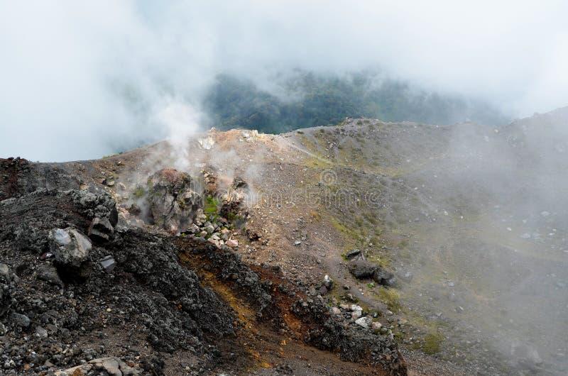 Cratere del vulcano Yzalco, El Salvador fotografia stock